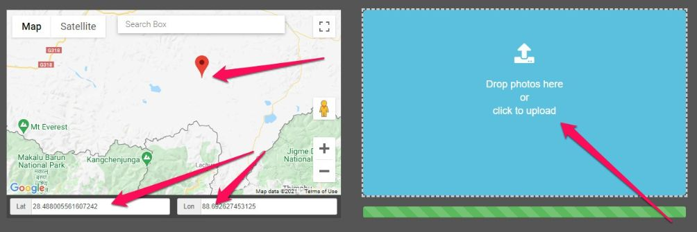 use online tools to add geotagging keywords in your image.
