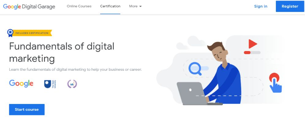 Learn digital marketing and also get certified from Google.