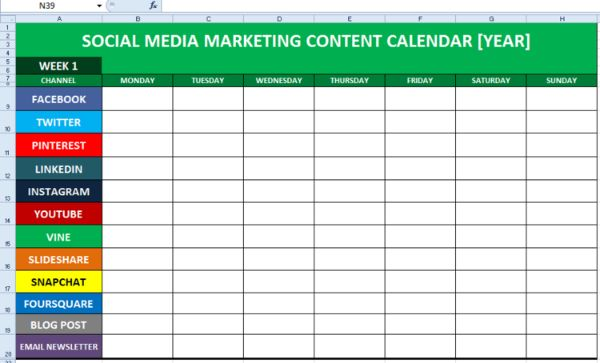 Social media content calendar can help you to track complex task and organize the whole team.