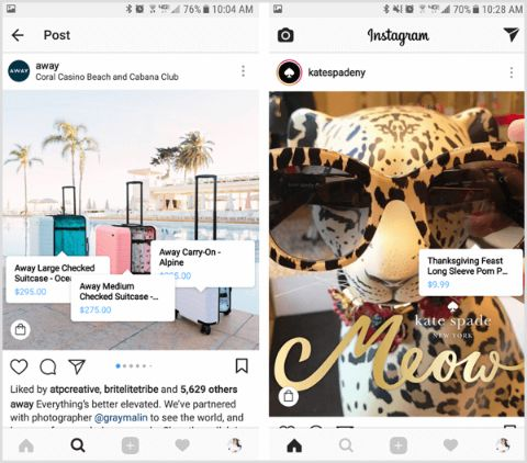 Highlight your products or service in social media like Instagram.