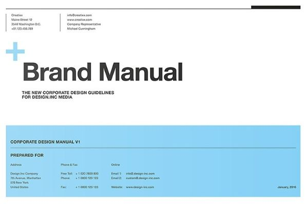create a brand manual before you start building your brand.