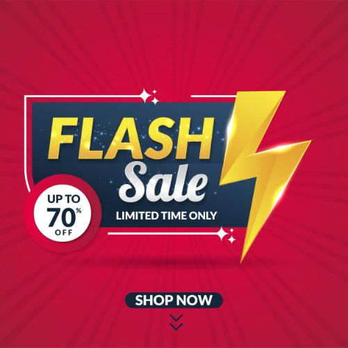Use flash sales promotional offer to attract your audience interest.