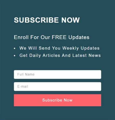 Make your subscription process as easy as possible, only name and email address should be sufficient. It is one of the best methods to get valuable subscribers.