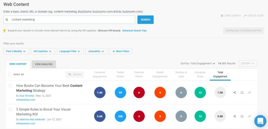 Use Buzzsumo app to find out best trendy content throughout the social media.