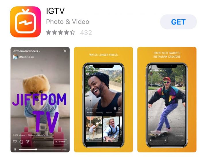 IGTV is a perfect place to promote your brand name through video content.