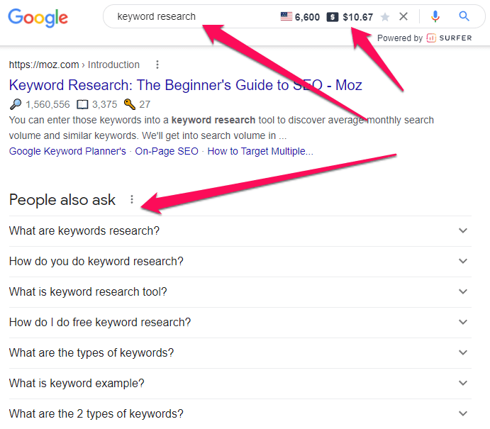 Use Google to find out what your audiences are looking for and this is a perfect way to write an SEO-optimized blog post.