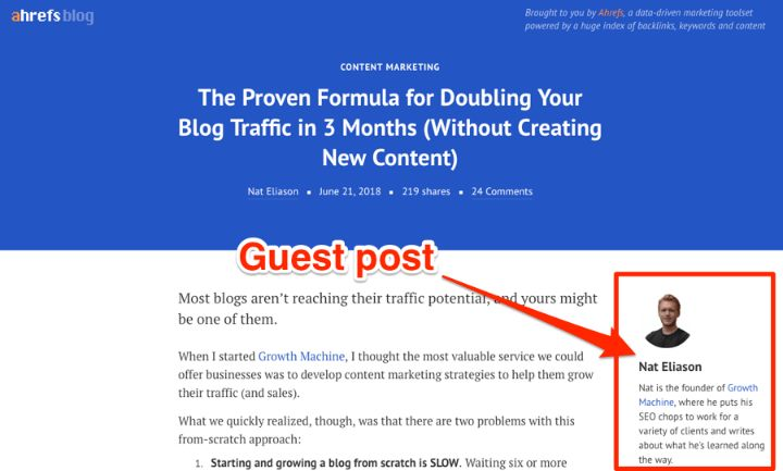 Guest blogging is a perfect and safe way to get high authority backlinks for your domain.