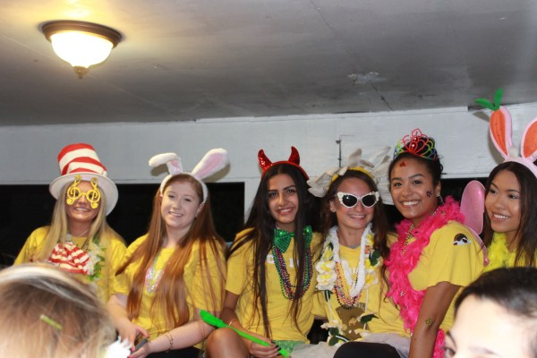 left to right, Hanna, Emily, Jaspreet, Julia, Brianna, Camille