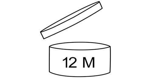 Il simbolo del PAO, Period After Opening (periodo dopo l'apertura)