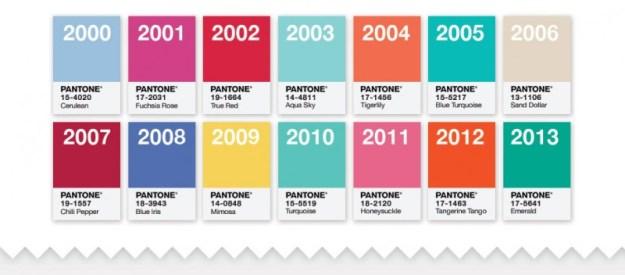 """Gli scorsi """"colori dell'anno"""""""