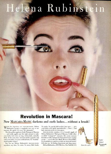 Il primo mascara in tubetto (non è poi così diverso da quelli che troviamo oggi in profumeria!)