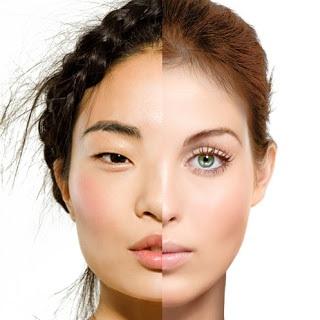Asian European Face