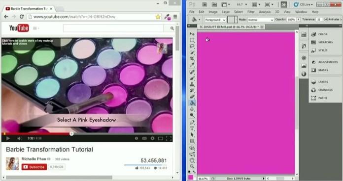 Grace seleziona il colore che le interessa da un video di Michelle Phan