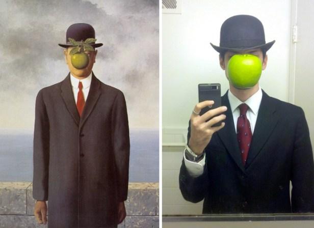 """""""Il figlio dell'uomo"""", quadro di Magritte"""