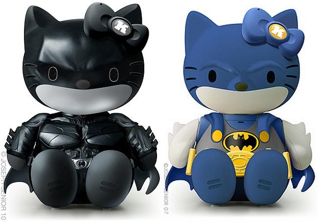Hello Kitty in versione Batman...