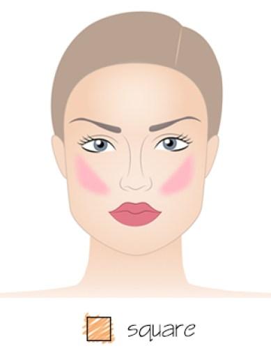 blush-application-for-square-face-shape