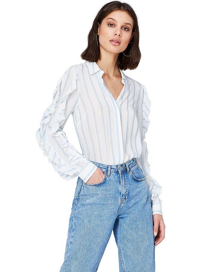 cliomakeup-come-indossare-le-righe-16-camicia-righe-azzurra