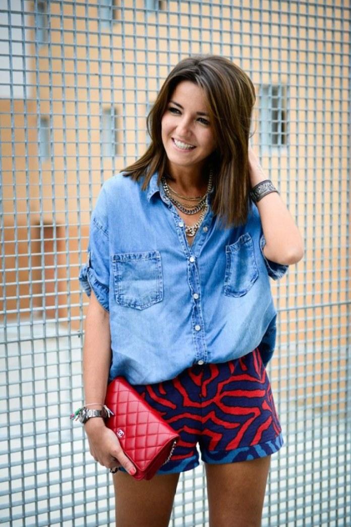 ClioMakeUp-come-indossare-camicia-jeans-11-short-fantastia