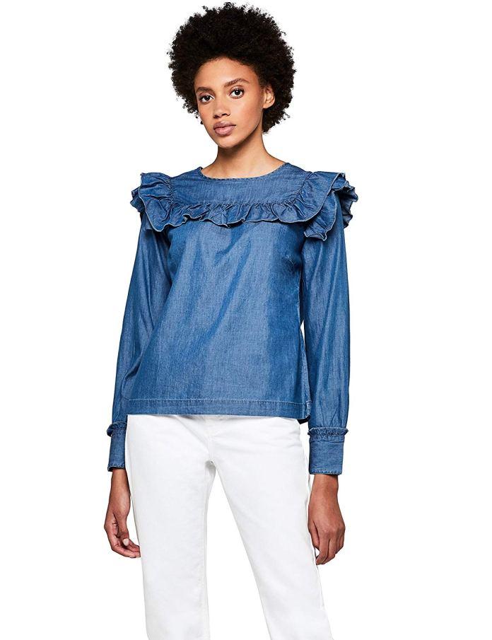 ClioMakeUp-come-indossare-camicia-jeans-17-blusa