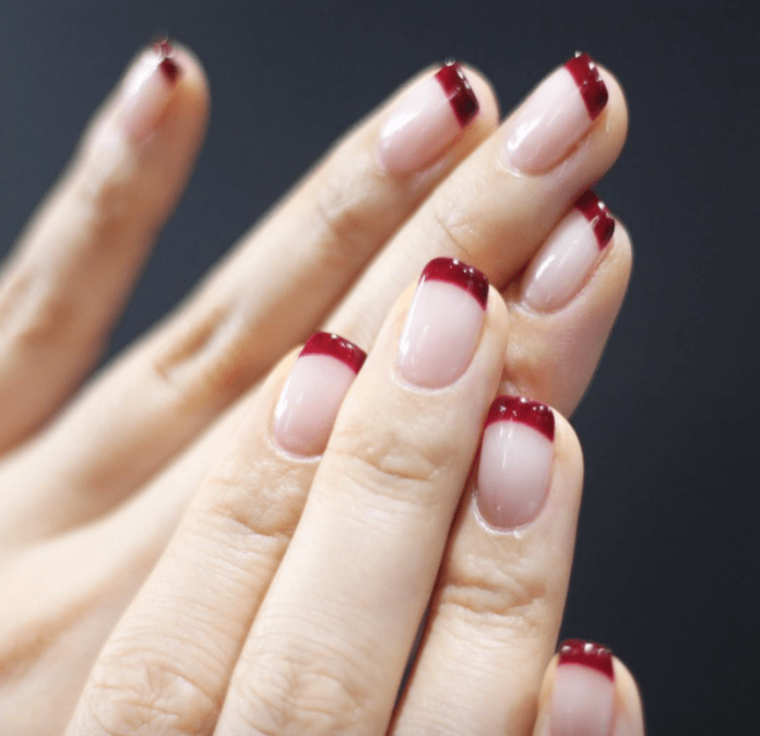 cliomakeup-french-manicure-6-burgundy