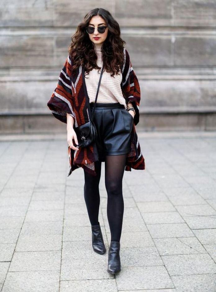 cliomakeup-come-indossare-shorts-inverno-10-pelle-cardigan