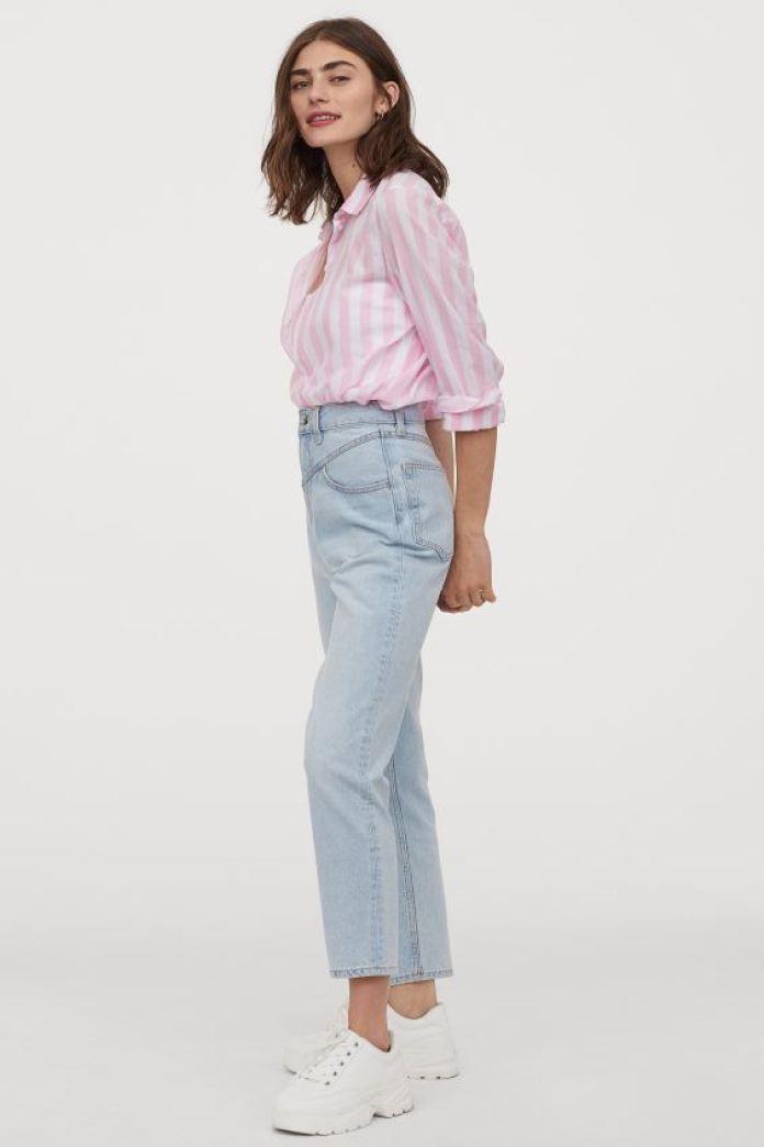 Cliomakeup-look-con-stampe-primavera-2020-9-camicia-righe-hm 1