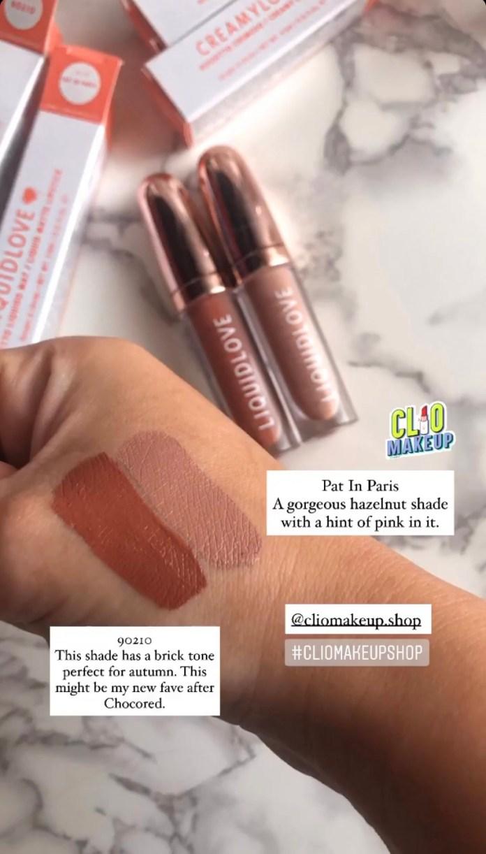 Cliomakeup-rossetto-liquido-liquidlove-pat-in-paris-10-swatches