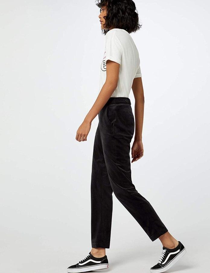 Cliomakeup-look-comfy-3-find-Velvet-Trouser-Pantaloni