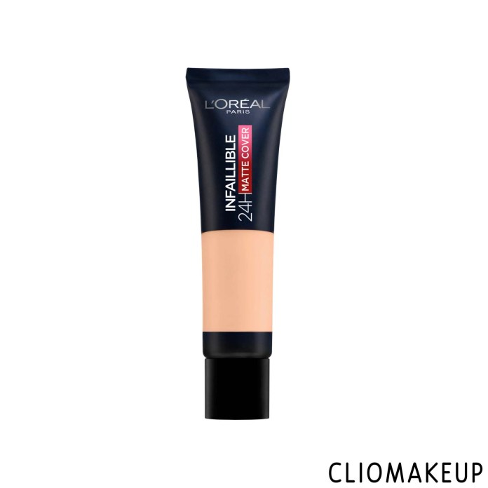 cliomakeup-recensione-fondotintal-oreal-infaillible-24h-matte-cover-1