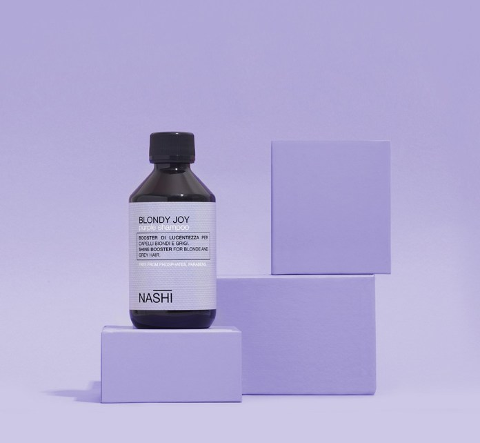 Cliomakeup-colori-capelli-pantone-2021-Nashi-Blondy-Joy-Purple-Shampoo
