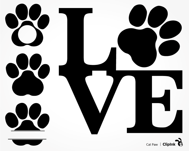 Download Cat svg, Dog svg, Puppy Love Paw | svg, png, eps, dxf, pdf ...
