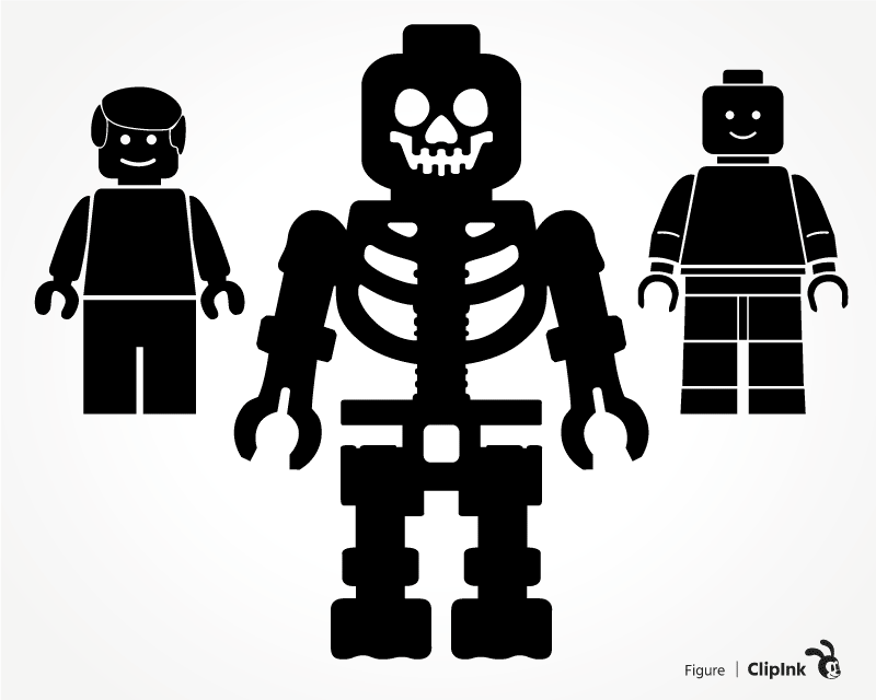 Download Lego Man svg, Toy Skeleton | svg, png, eps, dxf, pdf | ClipInk