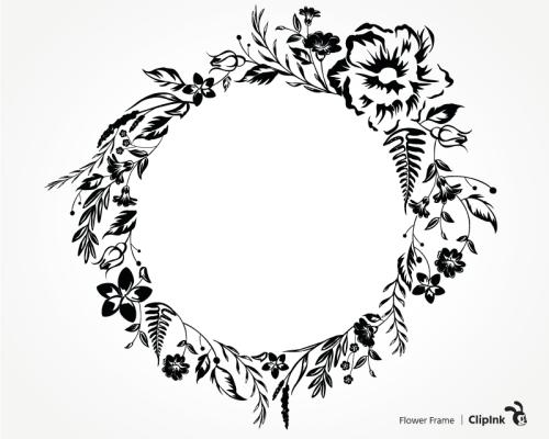 flower frame svg