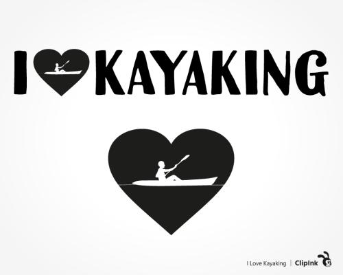 I love kayaking svg