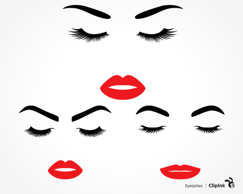 eyelashes svg