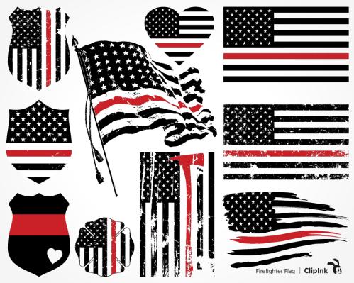 firefighter flag svg