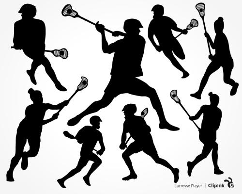 lacrosse player svg