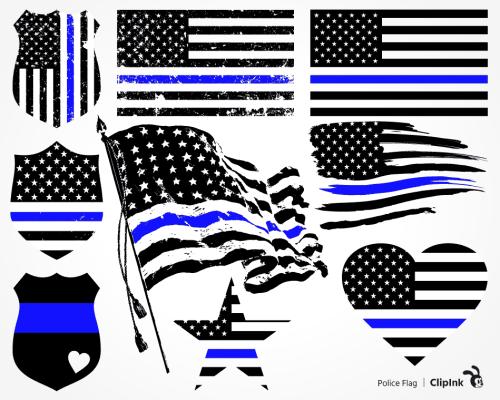 police flag svg