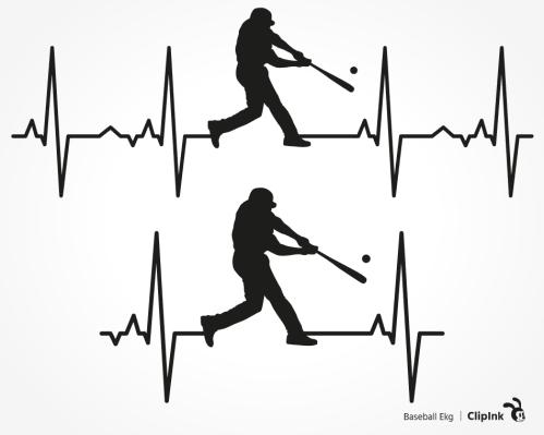 baseball ekg svg