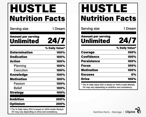 nutrition facts hustle