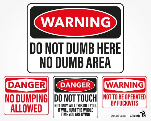 warning label png