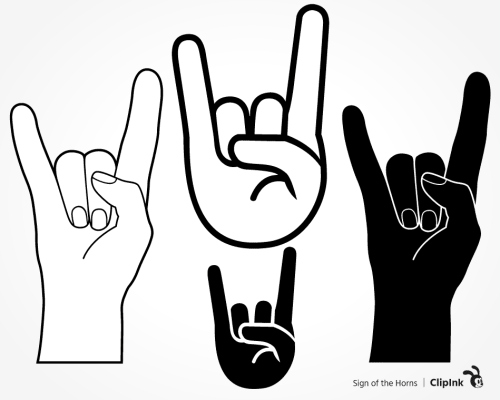sign of the horns svg