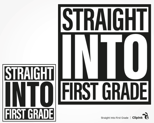 straight into first grade