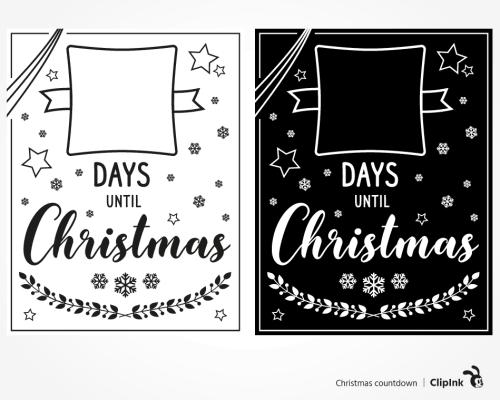 Days until Christmas svg