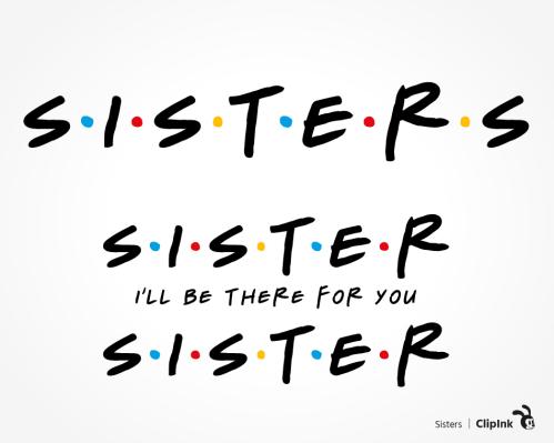 sister friends svg