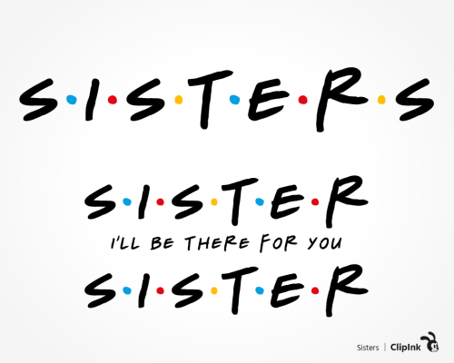 sister friends svg