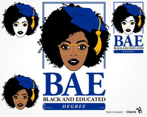 black graduation svg