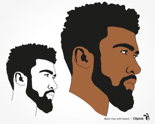 black man beard svg
