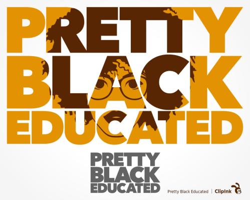 pretty black educated svg