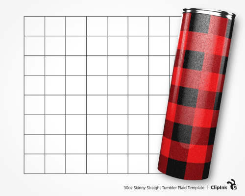 tumbler template plaid